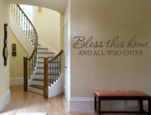 "Wall Quote ""Bless This Home.."" Wall Art Sticker, Modern Vinyl Transfer, Decal."